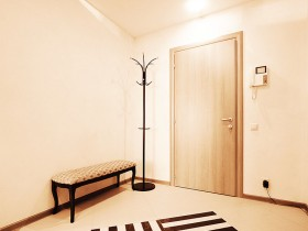 Bright entrance hall with elements of minimalism style