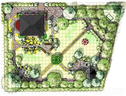 Дизайн проект дачного участка в 10 соток
