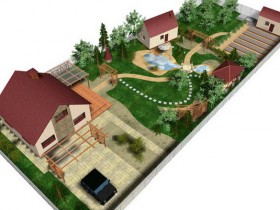 Design project of the suburban area in 15 acres