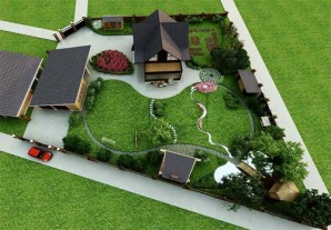 Landscaping suburban area in 15 acres with his own hands