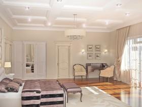 Светлая спальня в стиле классицизм