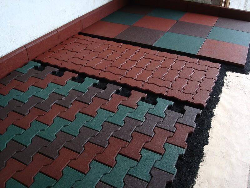 Резиновая плитка - мифы различных технологий создания
