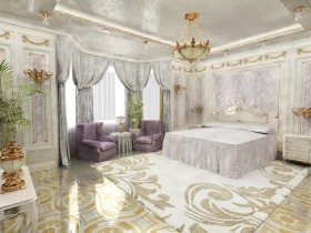 Bedroom in Rococo style