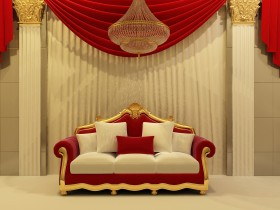 The design of the sofa in the Rococo style