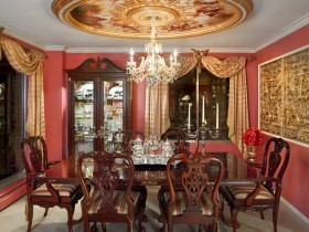The dining room in the Rococo style