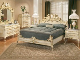 The design of the bedroom