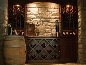 Wine cellar in the Romanesque style