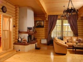 Современная гостиная в русском стиле