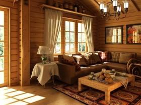 Традиционная русская гостиная