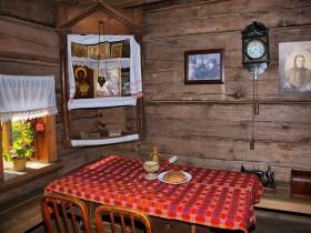 Интерьер комнаты, русский стиль