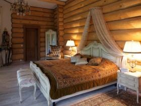 Оформление спальни в русском стиле