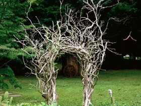 Арка з дерев'яних корчів