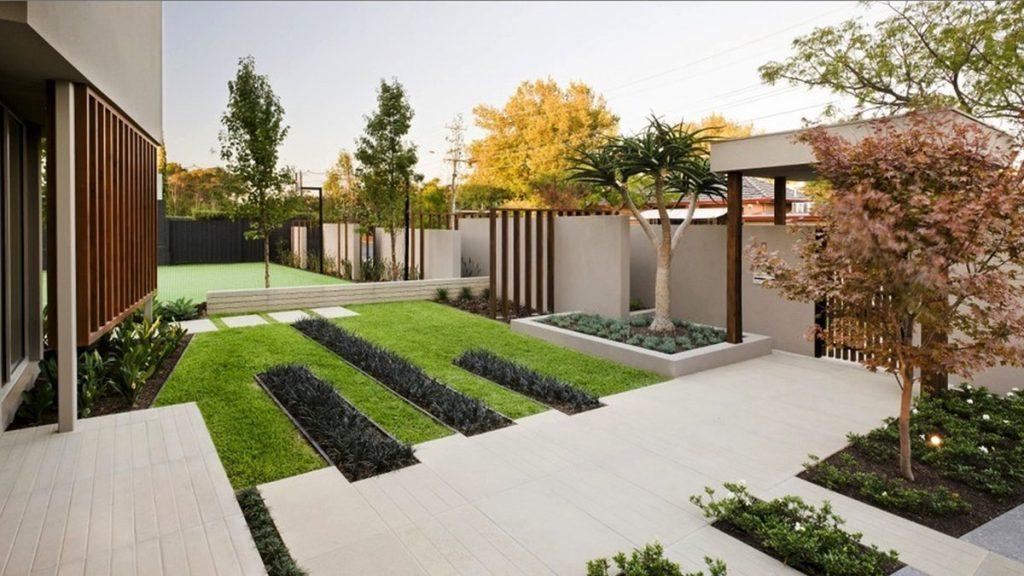 Ландшафтный стиль модерн в дизайне дачного участка