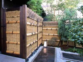 The fence in the Japanese style