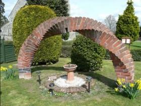 Original brick arch in the garden