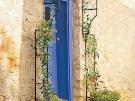 Garden arch over the front door