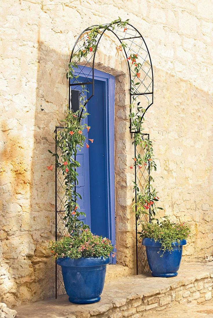 Цветочные арки на даче своими руками