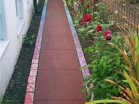 Simple garden path tiles