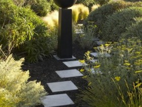 Garden path in the landscape garden