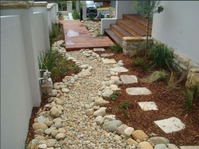 Garden path of natural stone