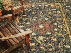 A carpet of natural stone