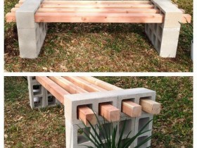 The idea of creating benches made of cinder blocks