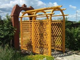 Арочная форма садовой перголы