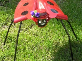 Ladybug from old shovels