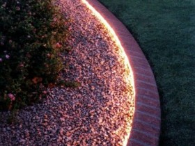 Concealed lighting garden paths