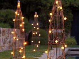 Креативные садовые светильники
