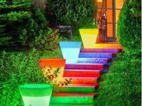 Садовые светильники из горшков