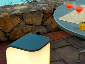 Garden lamps in furniture