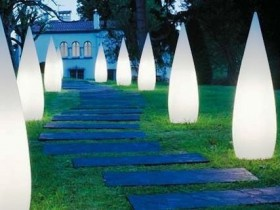 Garden lamps in the style of hi-tech