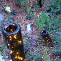 Homemade garden lamps