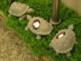 Garden figures lamps