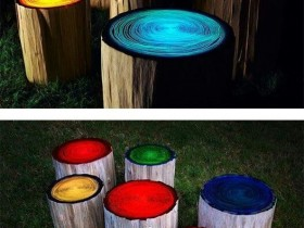 Glow in the dark paint on stumps