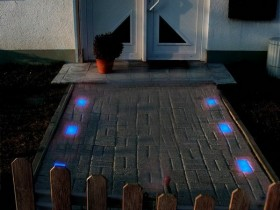 The idea of lighting the porch at the cottage