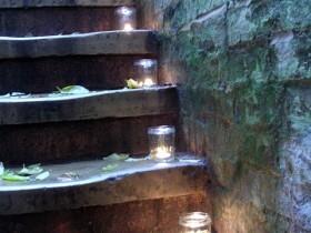 Idea lighting outdoor stairs