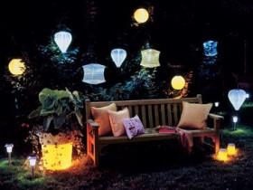 Garden lights in the area
