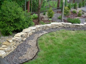 Border from a natural stone