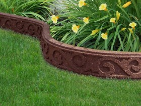Decorative stone border for flower beds