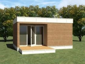 Садовый домик в стиле минимализм