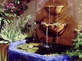 The garden fountain in the Moorish style
