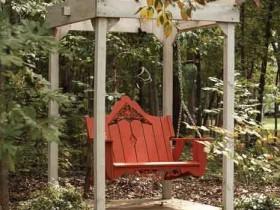 Small garden swing