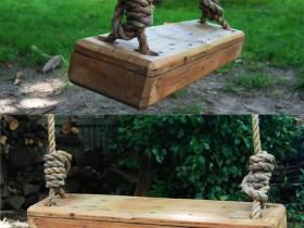 Simple garden swing