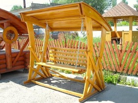 Garden bench from wood