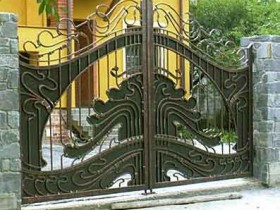 Gate in the country of metal