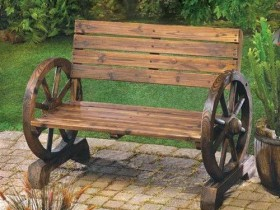 Creative design of wooden benches