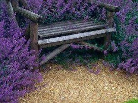 Garden bench in colors