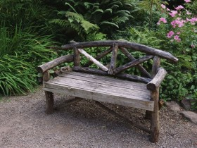 Beautiful rustic bench